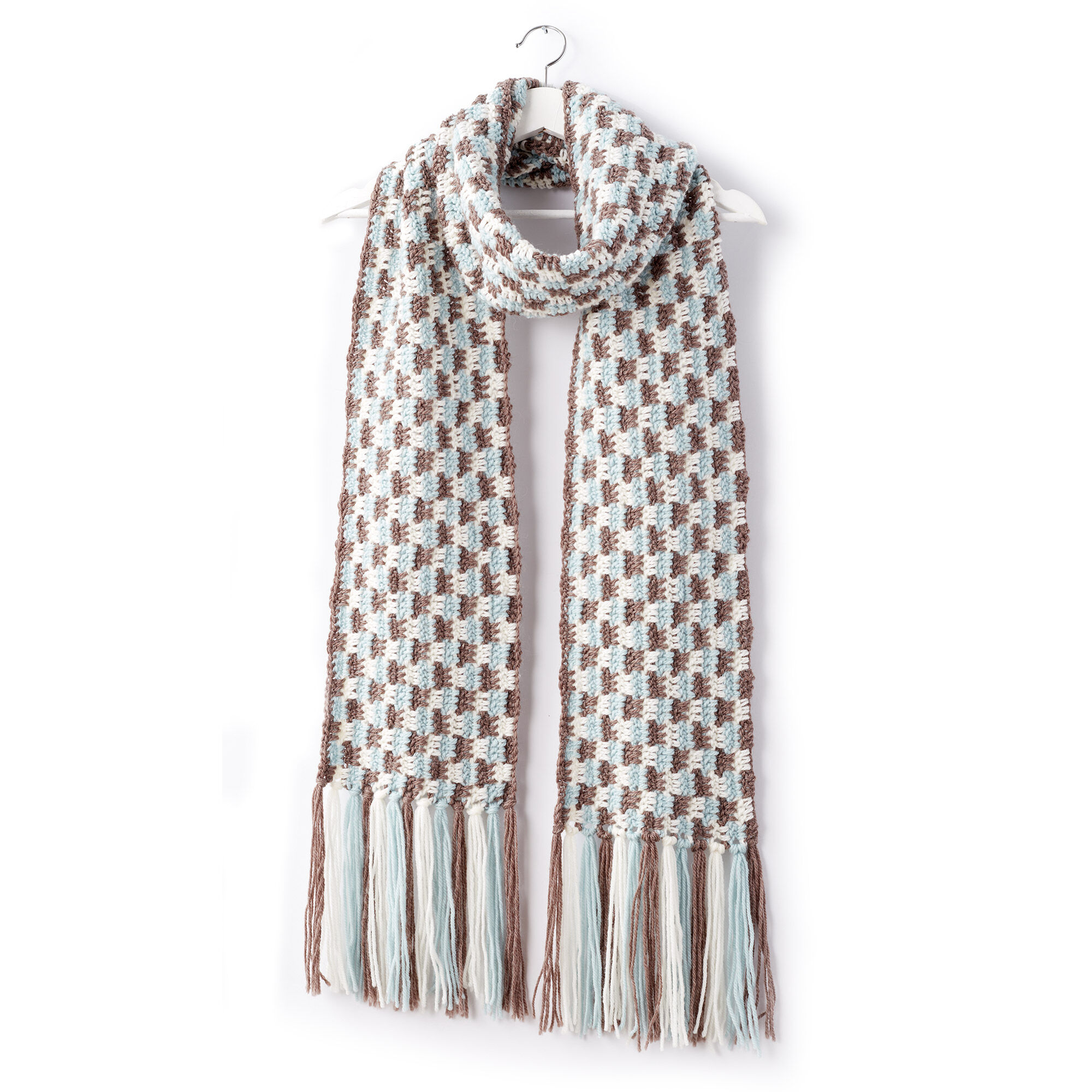 Patons Check Yourself Crochet Scarf   Yarnspirations