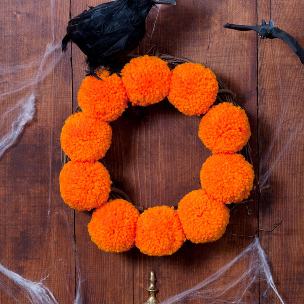 Red Heart Halloween Wreath