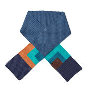 Go to Product: Caron x Pantone Color Block Crochet Scarf in color