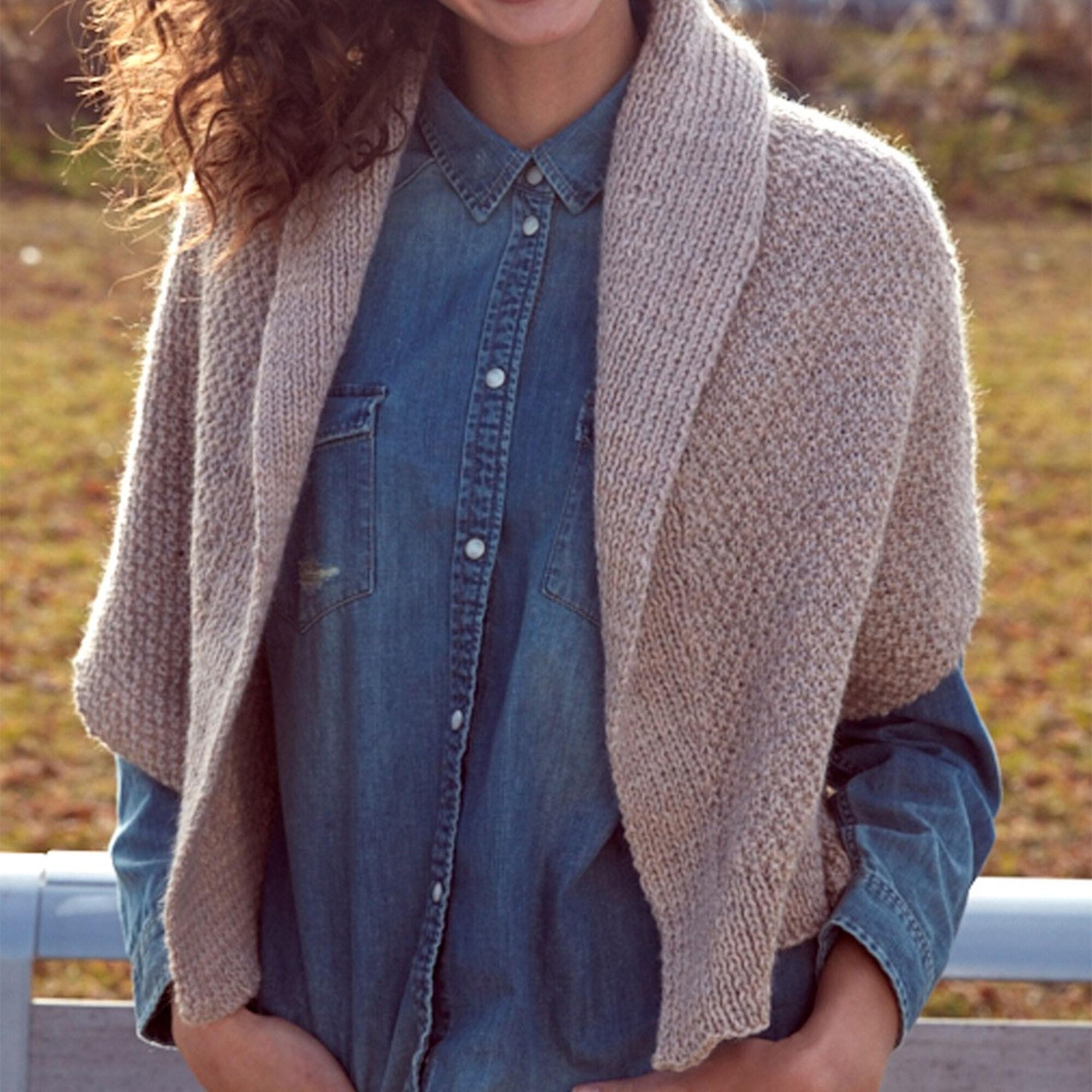 Patons Knit Envelope Cardigan, XS/S/M   Yarnspirations