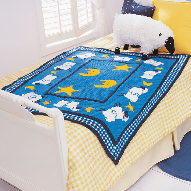 Patons Counting Sheep Blanket in color