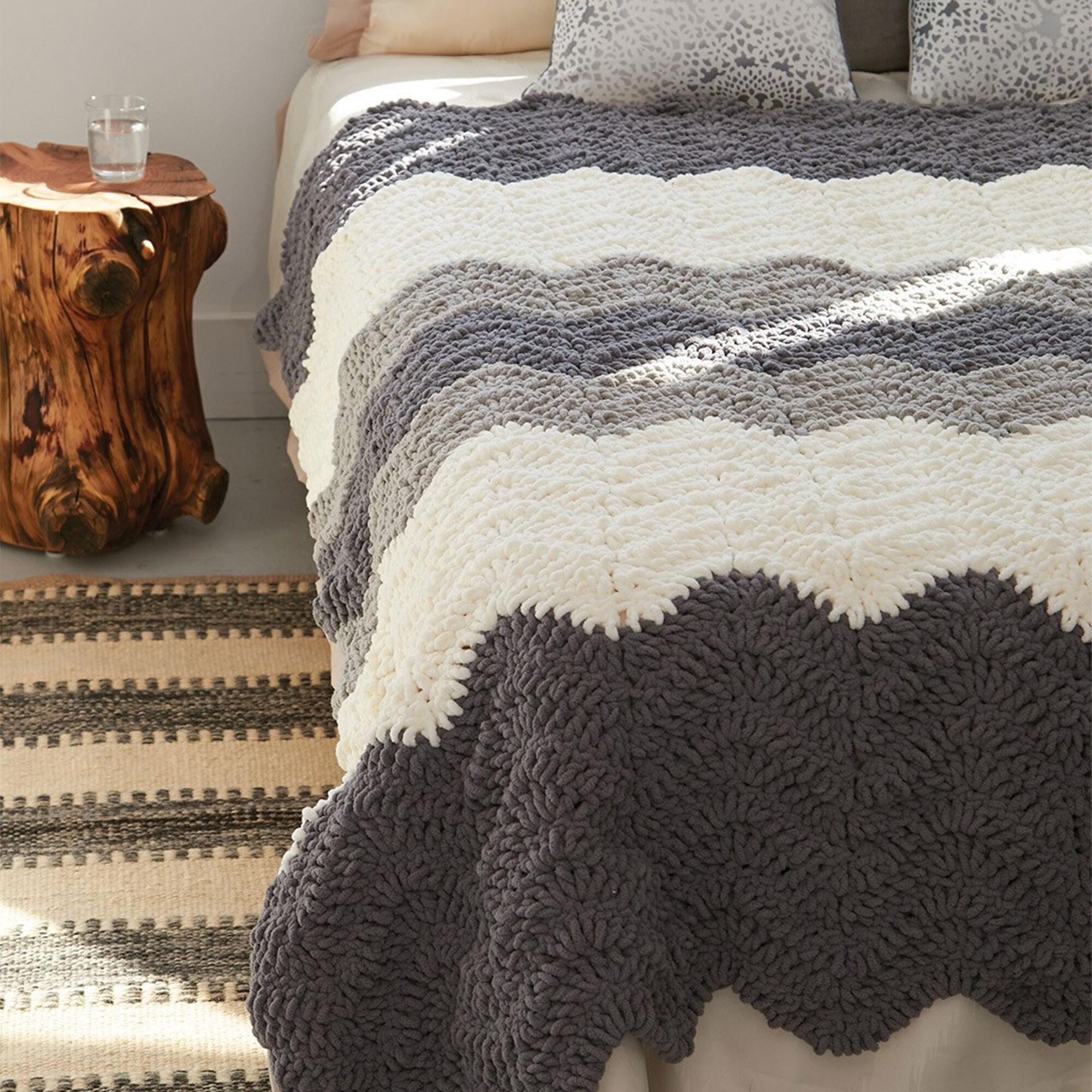 Bernat Grey Scale Blanket | Yarnspirations