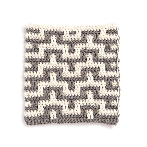 Lily Sugar'n Cream Mosaic Stitch Crochet Dishcloth in color