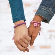 Red Heart Three Easy Friendship Bracelets