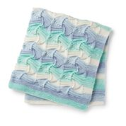 Go to Product: Caron Knit Wavy Gravy Baby Blanket in color
