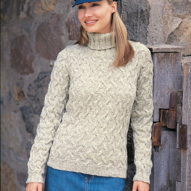 Patons Shadow Cables Pullover, XS in color