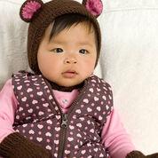 Red Heart Bear Cub Hat & Mitts, Newborn