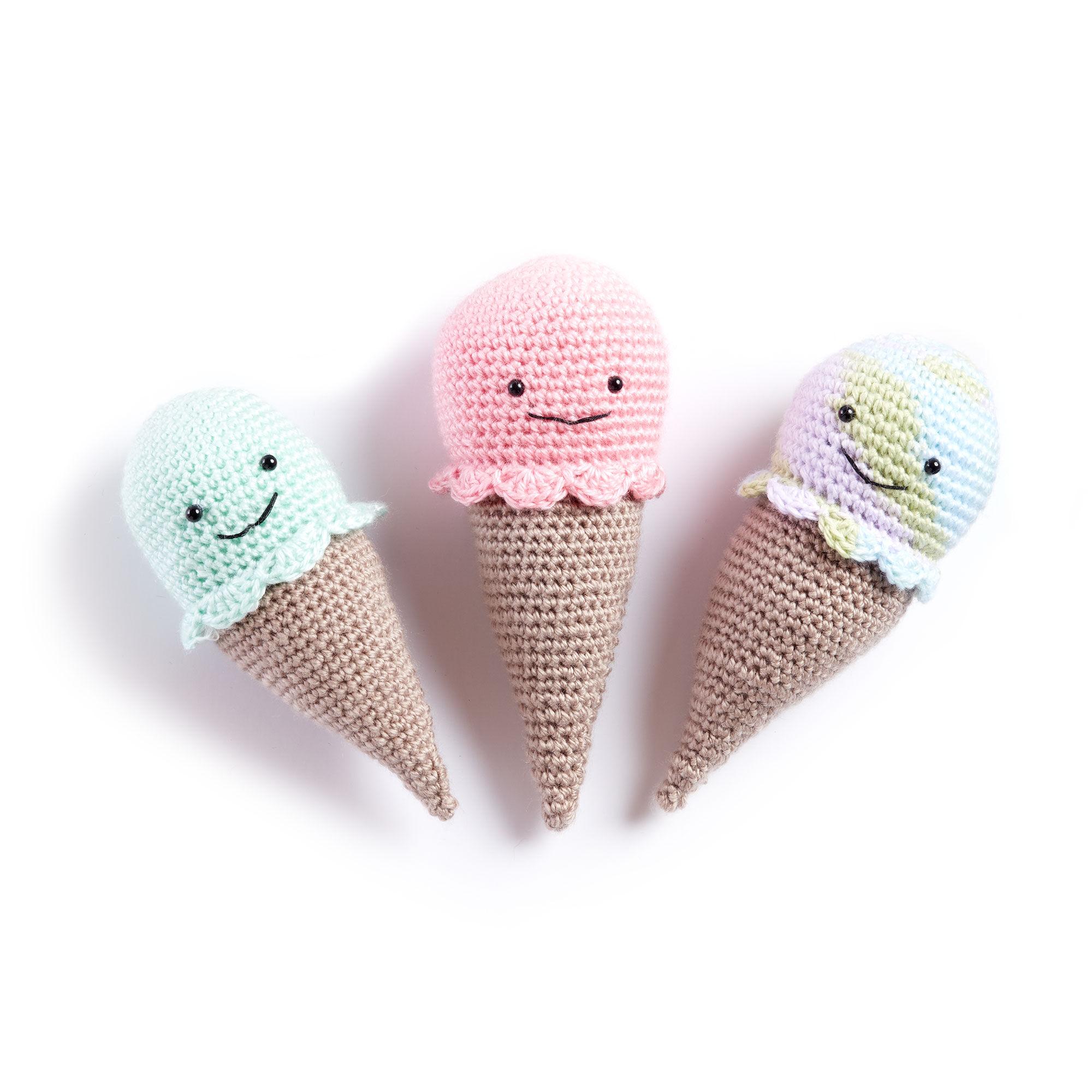 Bernat Crochet Ice Cream Cone Rattle, Lavender Lullaby Ombre ...