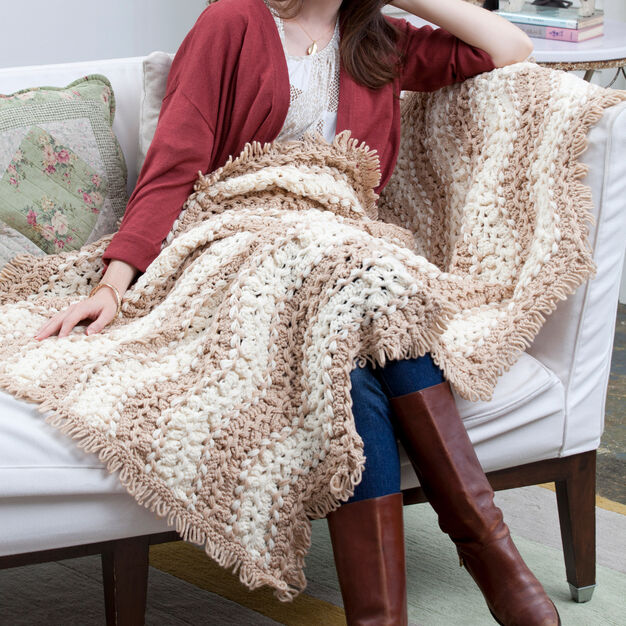 Red Heart Waverly Place Throw in color