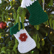 Red Heart Little Stockings Ornaments