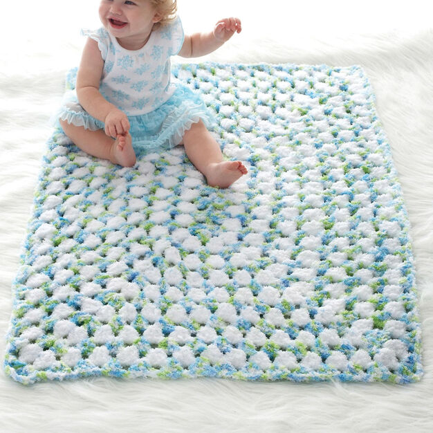 Bernat Bias Blocks Baby Blanket in color