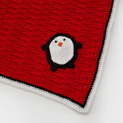Red Heart Playful Penguin Blanket