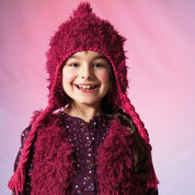 Go to Product: Red Heart Furry Hat and Vest, S in color