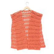 Caron Crochet Short Ruana, S