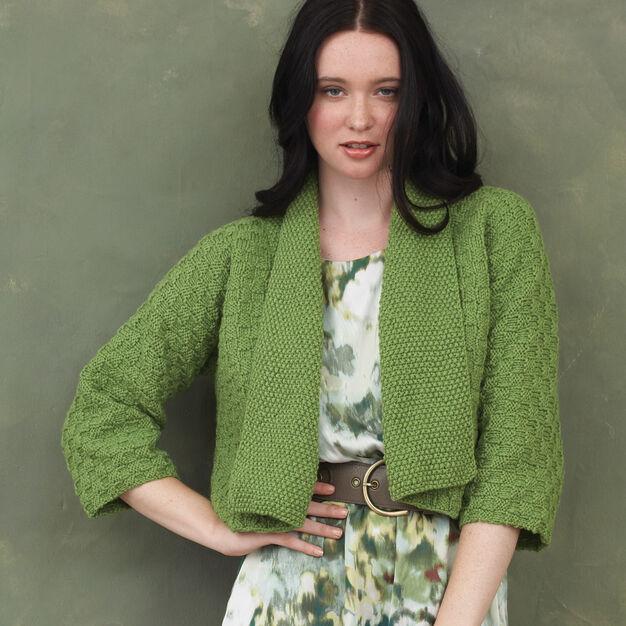 Bernat Kimono Sleeve Cardigan, XS/S in color