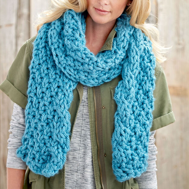 Bernat Cable Edge Scarf in color