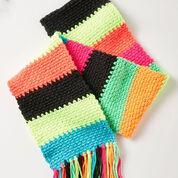 Caron Crochet Mood Scarf, Softly Muted