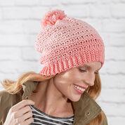 Red Heart Crochet Fair Isle Hat, S
