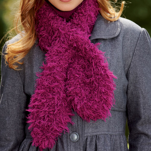Red Heart Keyhole Tuck Scarf in color