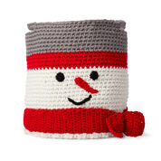 Red Heart Crochet Snowman Basket