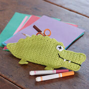 Lily Sugar'n Cream Alligator Pencil Case