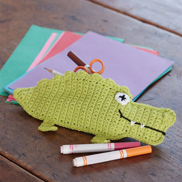Lily Sugarn Cream Alligator Pencil Case Yarnspirations