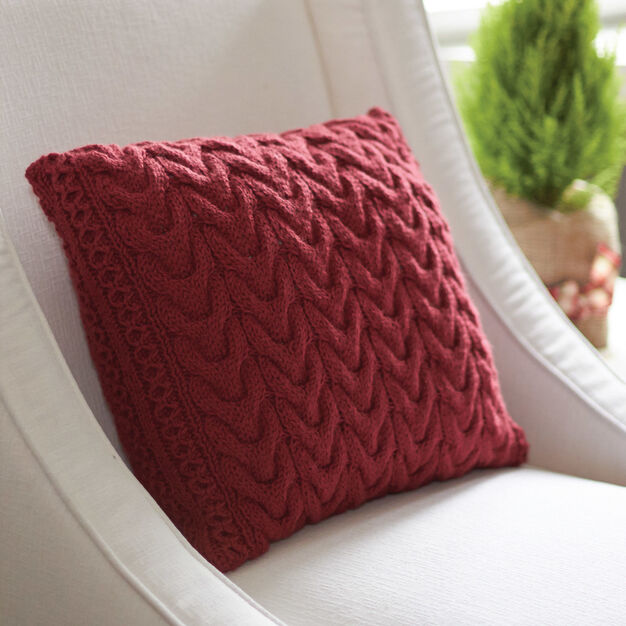 Patons Christmas Cables Pillow