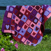 Red Heart Happy Hearts Afghan