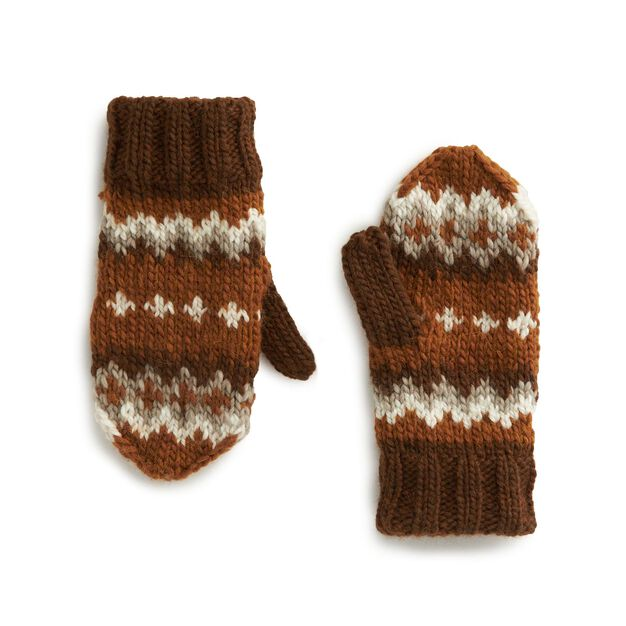 Patons Winter in Vermont Knit Mittens in color