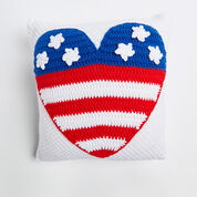 Go to Product: Red Heart Patriot Heart Pillow in color