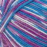 Red Heart Comfort Yarn, White/Turq/Violet Print