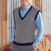 Red Heart Man's Seeded Rib Vest, S