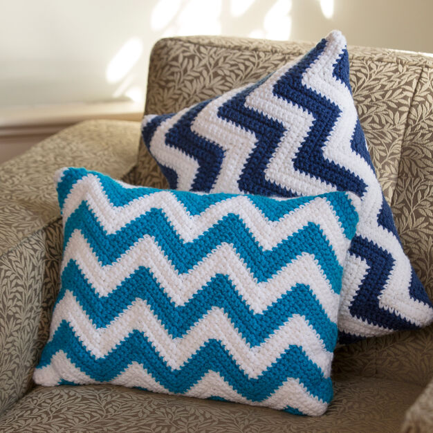 Red Heart Chevron Pillow Pair in color
