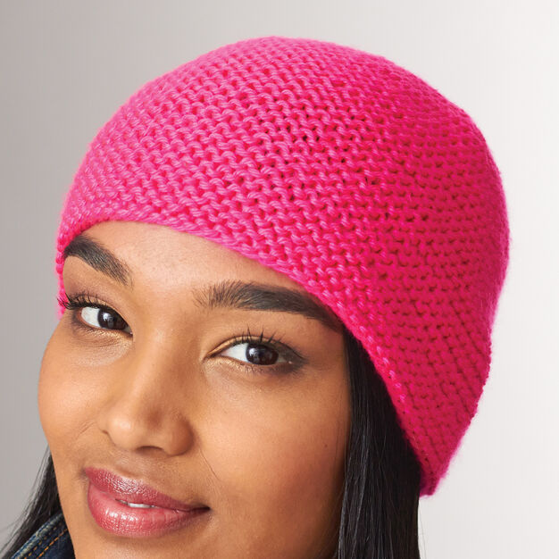 Caron Simply Garter Stitch Hat, 4/6 years in color