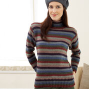 Bernat Striped Turtleneck Sweater, XS/S