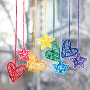 Go to Product: Caron Hearts and Stars Dream Catchers, Pink in color