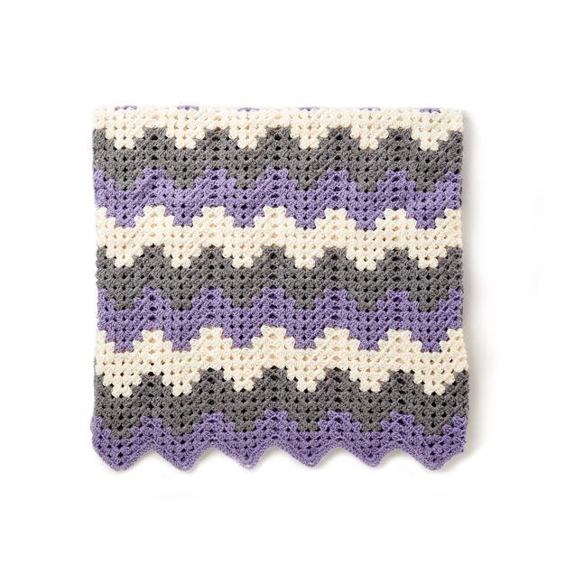 Caron Crochet Granny Ripple Blanket Pattern Yarnspirations
