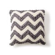 Bernat Loop Stitch Chevron Crochet Pillow