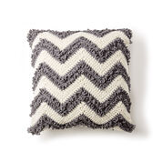 Bernat Loop Stitch Chevron Crochet Pillow
