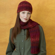 Red Heart Knit Hat & Scarf