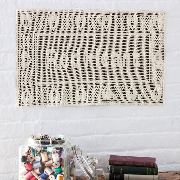 Red Heart Personalized Filet Crochet | Yarnspirations
