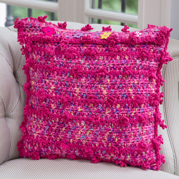Red Heart Posh Pillow in color