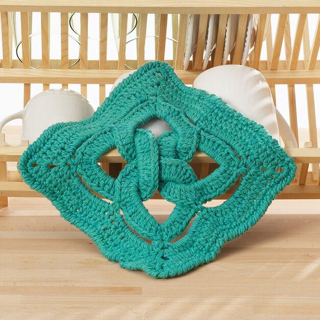 Lily Sugarn Cream Celtic Knot Dishcloth Yarnspirations