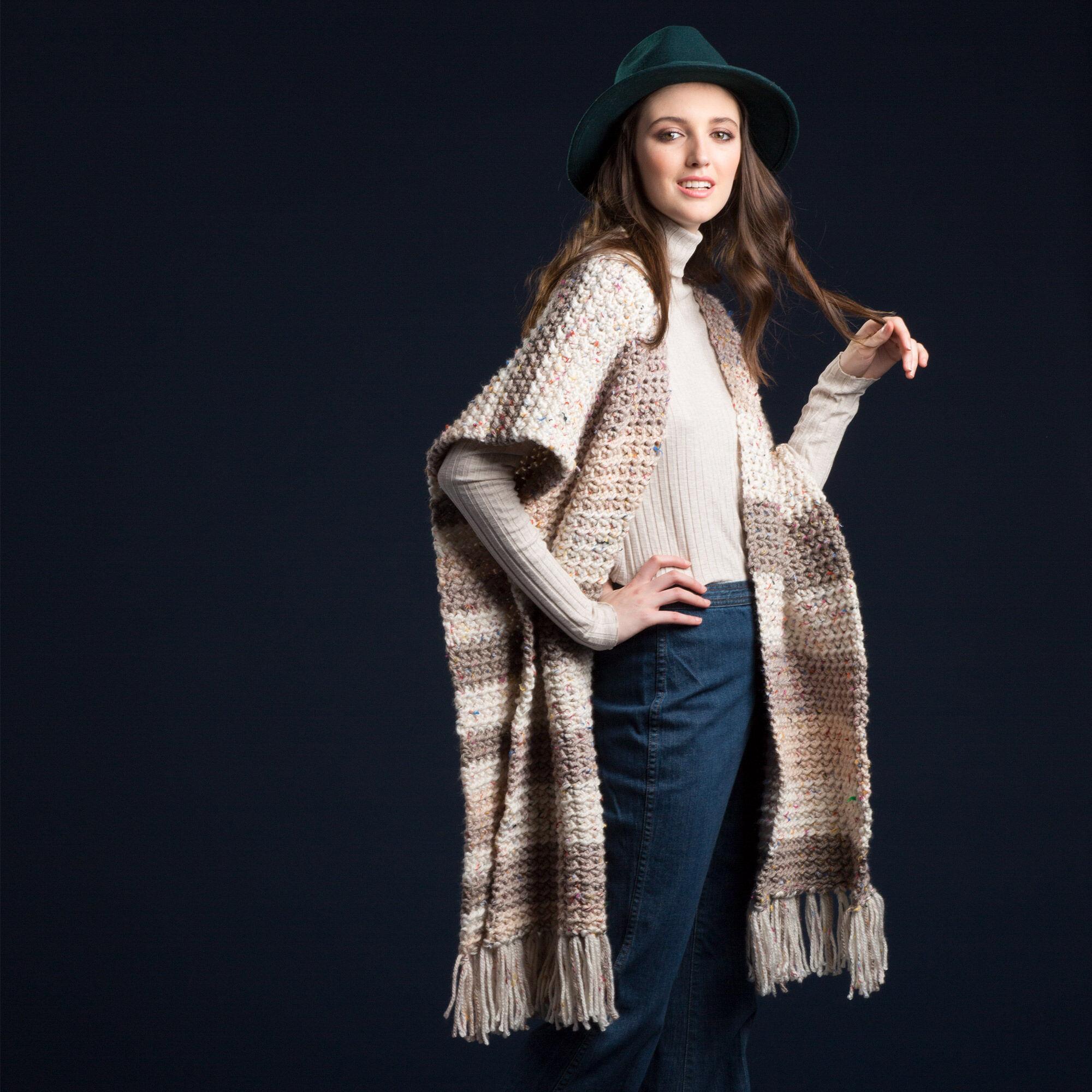 Caron Crochet Ruana, XS/S/M Pattern   Yarnspirations