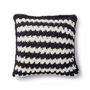 Bernat Alize EZ Two Color Criss-Cross Pillow