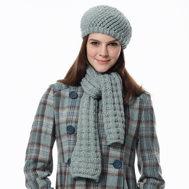 Bernat Scarf and Hat, Hat in color