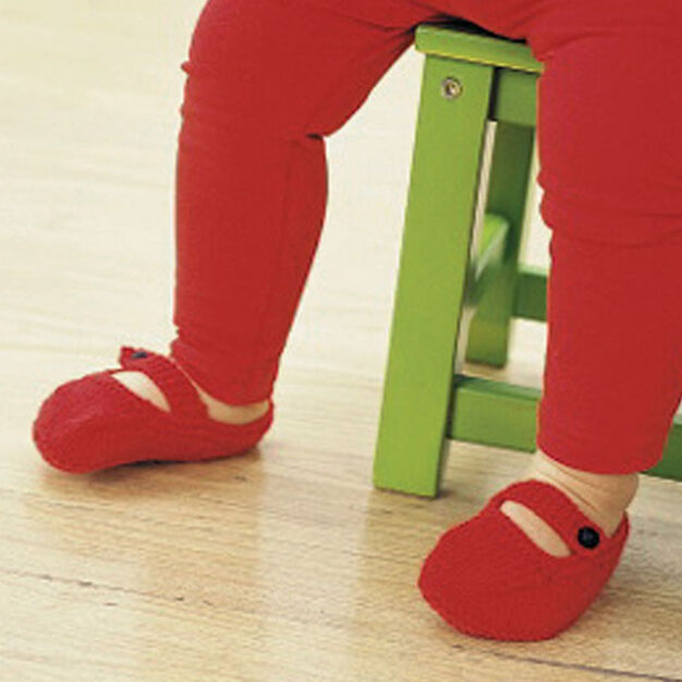 Patons Astra - Little Red Shoes (knit), 12-18 mos