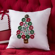 Coats & Clark Oh Tannenbaum Button Pillow