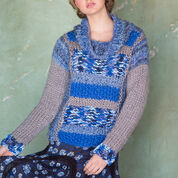 Red Heart Mixed Textures Pullover, S