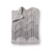 Bernat Lacy Chevrons Knit Baby Blanket